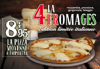 Pizza 4 Fromages Italienne - Juillet 2015