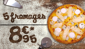 Janvier 2016 - Pizza 5 Fromage