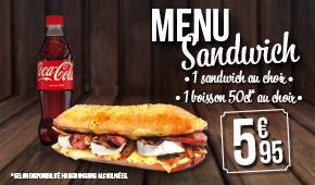 Janvier 2016 - Menu sandwich