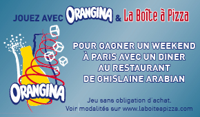 Orangina et La Boîte à Pizza - Novembre 2015
