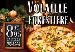 Pizza Volaille Forestière - Novembre 2015