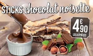 Sticks chocolat
